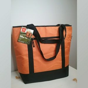 Ozark Trail 50 Can Orange and Black Thermal Tote